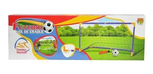 kit jogo de futebol chute a gol com trave grande 118cm bola
