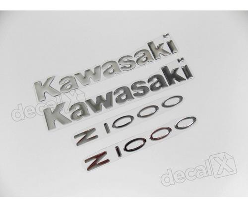 kit jogo emblema adesivo resinado kawasaki z1000 re26
