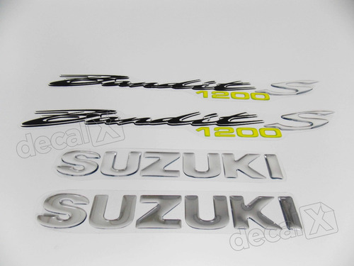 kit jogo emblema adesivo resinado suzuki bandit 1200s re13