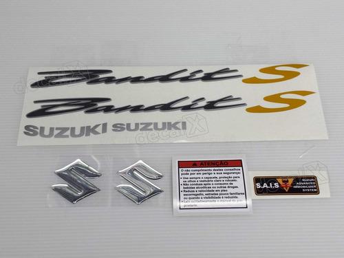 kit jogo emblema adesivo suzuki bandit 650s 2008 azul s0604