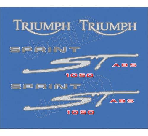 kit jogo emblema adesivo triumph sprint st 1050 tpsst10503