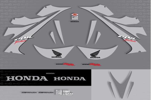 kit jogo faixa adesivo honda cbr 1000rr 2006 prata fireblade