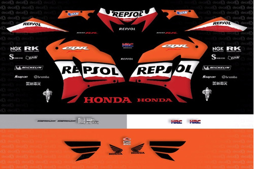 kit jogo faixa adesivo honda cbr 1000rr repsol 2007 fireblad