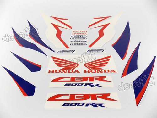 kit jogo faixa adesivo honda cbr 2010 azul e branca 600010az