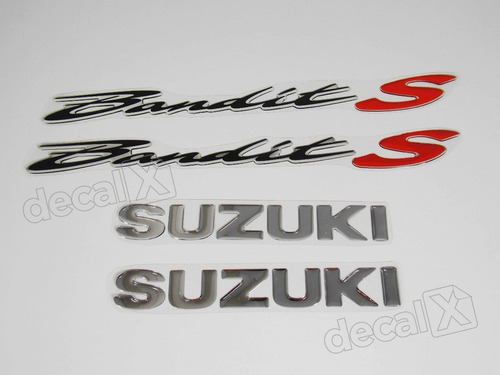 kit jogo faixa emblema adesivo resinado suzuki bandit s re15