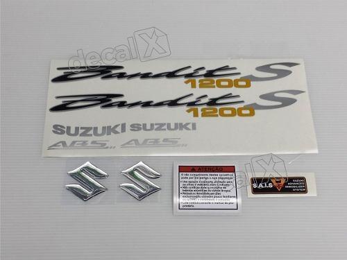 kit jogo faixa emblema adesivo suzuki bandit 1200s 2008 azul