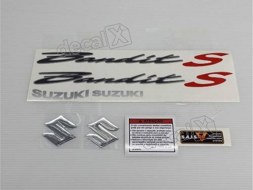 kit jogo faixa emblema adesivo suzuki bandit 650s 2008 preta