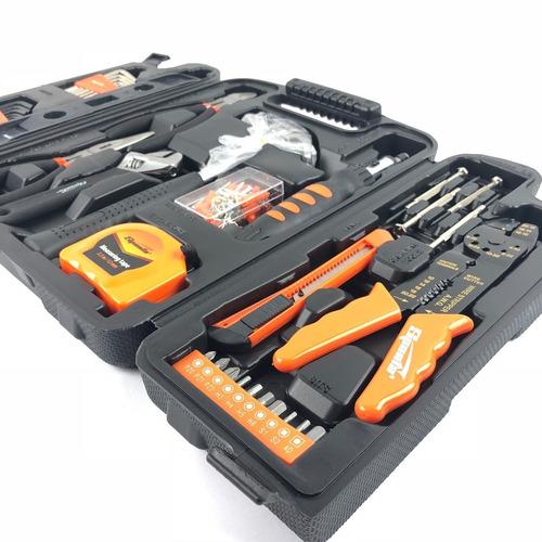 kit jogo ferramentas com 129 peças sparta + kit chave fixa