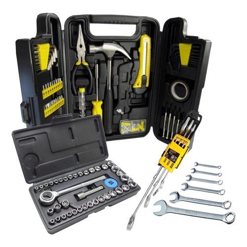 kit jogo ferramentas titanium 275 pcs c/ soquetes e chaves