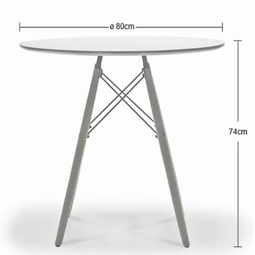 kit jogo mesa charles eames eiffel 80cm c/ 4 cadeiras