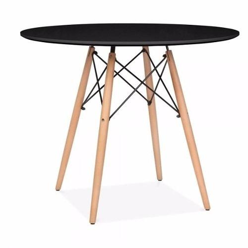 kit jogo mesa charles eames eiffel 90cm 4 cadeiras branca