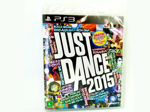 kit jogo ps3 just dance 2015 + just dance 3 midia fisica nf