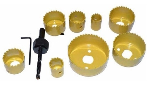 kit jogo serra copo bi-metal bimetal aco e ferro 19mm a 64mm