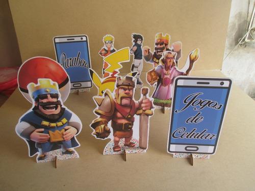 kit jogos de celular, 10 display 15 cm,decoração  mesa