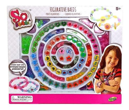 kit joyeria infantil p armar pulseras bjouterie juego  nenas