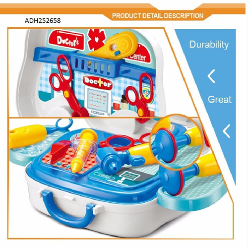 kit juego doctor doctora niños set juguete médico