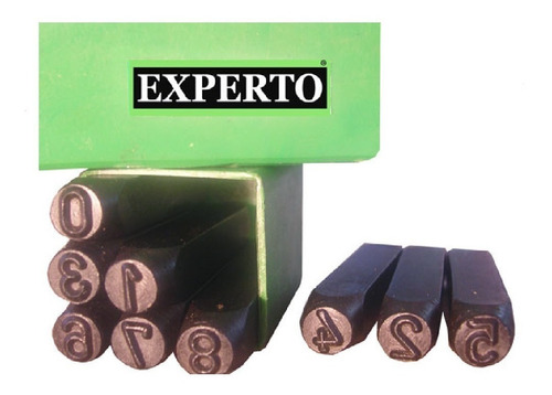 kit juego letras + numeros a golpe n 2 punta grabar experto