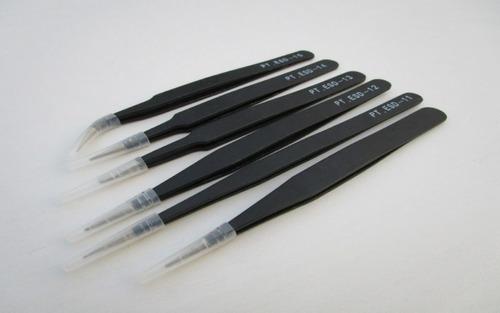 kit, juego ò set pinzas de precisión o pinzas auxiliares