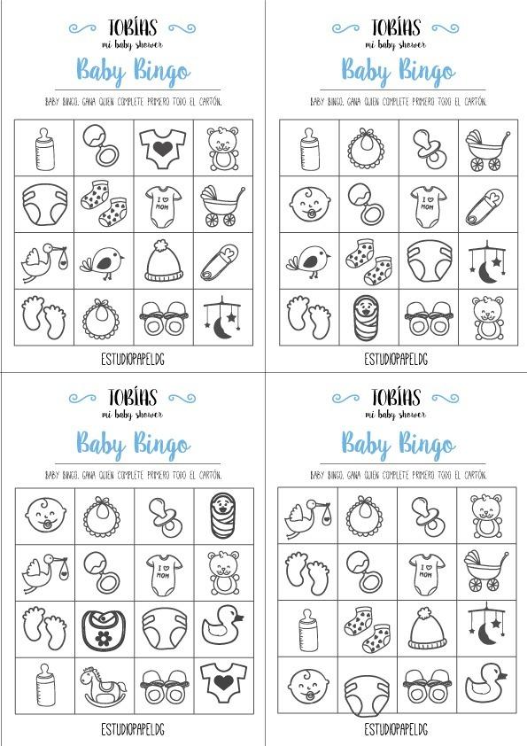 Kit Juegos Baby Shower Pdf Para Imprimir X50 Invitados 120 00