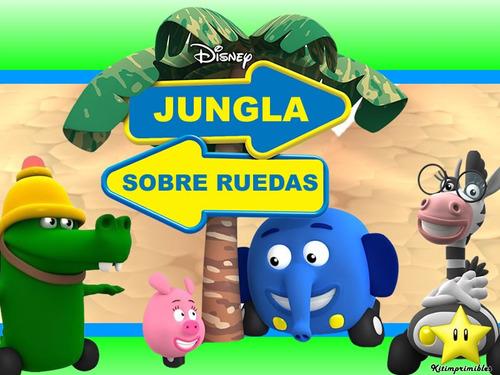 kit jungla sobre ruedas diseñá tarjetas cajas cumples y mas