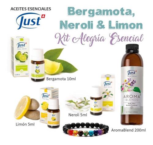 kit just neroli 10ml limon 5ml bergamota 5ml y bruma 200ml