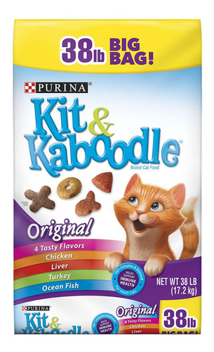 kit & kaboodle 38 libras (17.2 kilos) para gatos, americana
