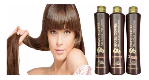 kit: keratina alisante brasil coffee full cacao 1000ml