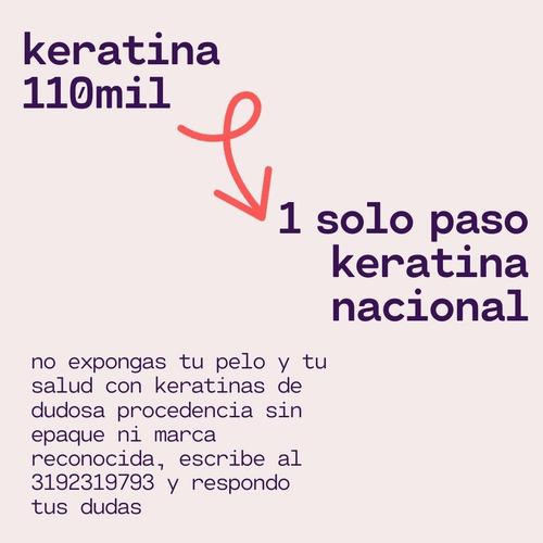 kit keratina aplicacion mas producto, keratina nacional
