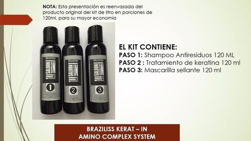 kit keratina braziliss recamier 120 ml - original reenvasado