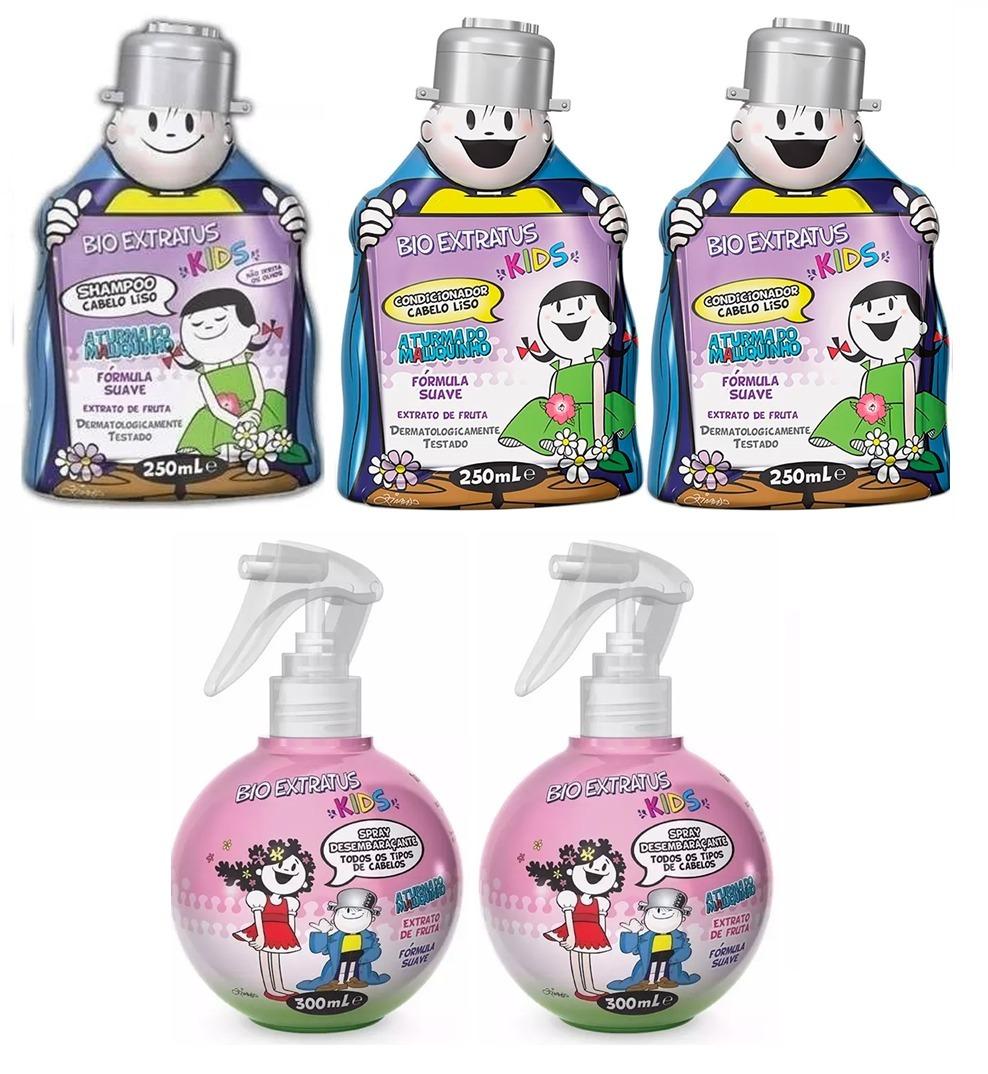 eee548058 Kit Kids P/cabelo Liso 1 Shampoo + 2 Cond. + 2 Spray - R$ 184,00 em ...