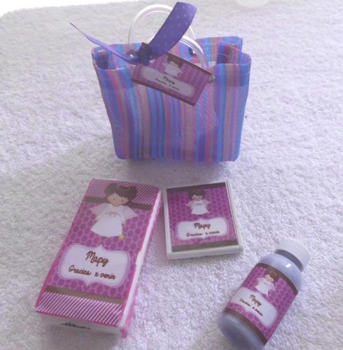 kit kleenex espejito crema personalizada bolsita mandado
