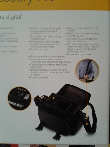 kit kodak de estuches para cámara y tripié de viaje canon