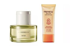 d9aa846b5 São Paulo · Kit Korres Perfume Feminino Mira + Avon Renew Protetor Solar
