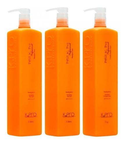 kit kpro petit 2 shampoo + 1 condicionador de 3x1litro