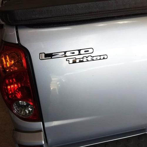 kit l200 triton sds 3.2 cr adesivos emblemas resinados