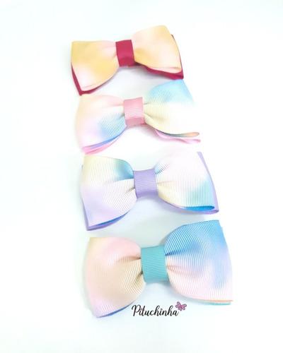 kit laço de cabelo tye die gravata