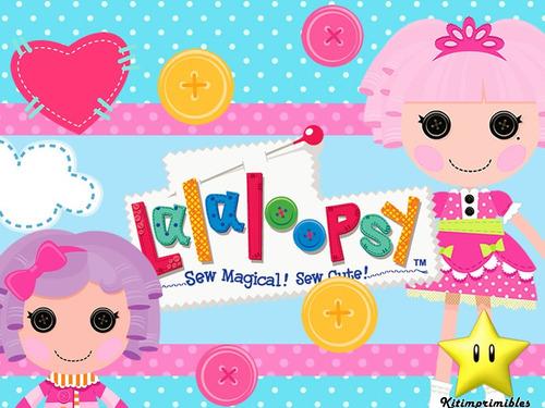 kit lalaloopsy muñecas de trapo diseñá tarjetas cumples
