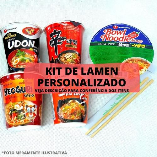 kit lamen coreano neoguri udon shin kimchi personalizado