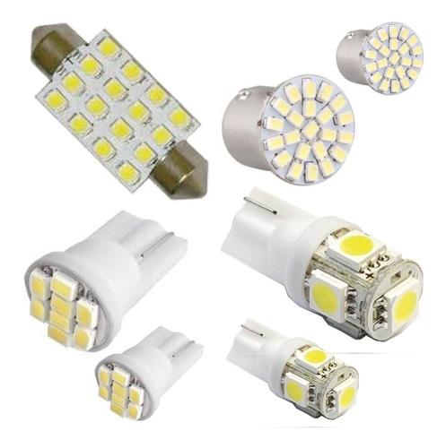 kit lampada de led gol g5 teto placa ré lanterna