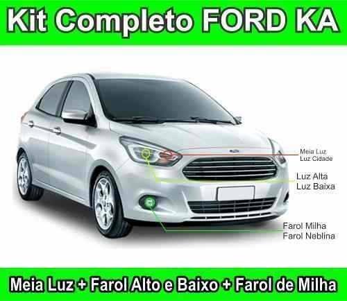 Kit Lampada Farol Luz Super Branca Tipo Xenon Ford Ka
