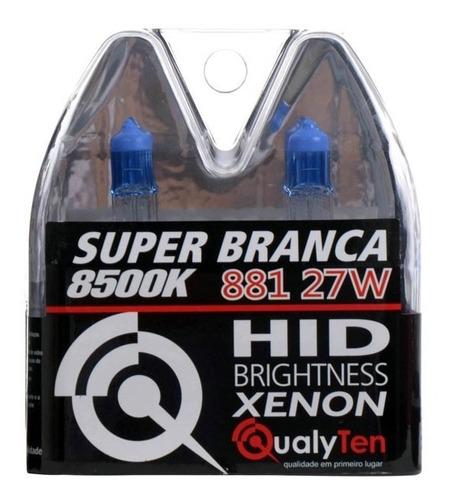 kit lampada farol+milha picanto 2006/15 h4 h27 super branca