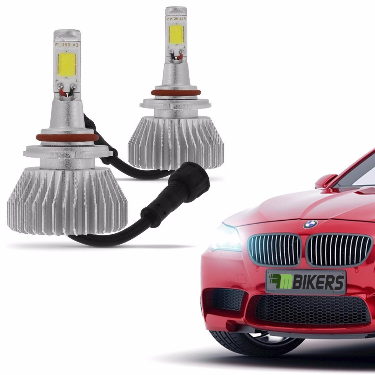 Kit lampada farol super led cree carro 6000k h4 tipo xenon for Lampada led
