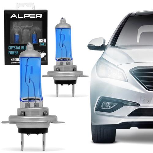 kit lampada h7 crystal blue vision super branca alper 4200k