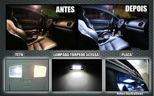 kit lampada led gol + farol/milha , saveiro e parati g1
