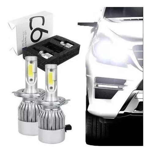 kit lampada led h7 72w 7200 lumens super branca tipo xenon