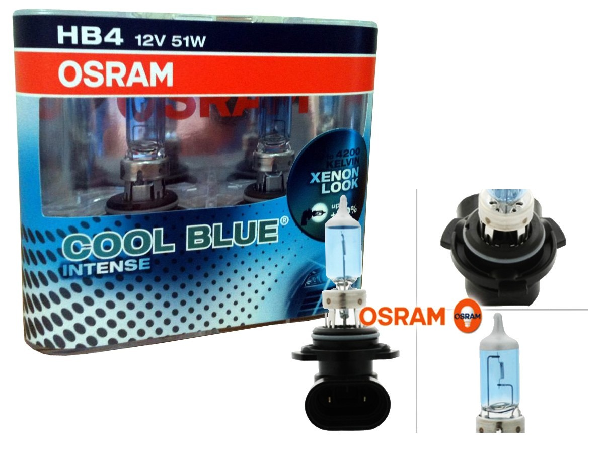 kit lampada osram cool blue intense hb4 super branca 4200k. Black Bedroom Furniture Sets. Home Design Ideas