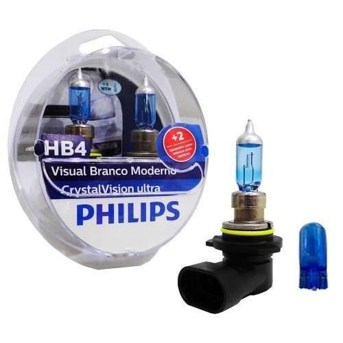 kit lampada philips crystal vision ultra h1 + h7 + hb4 4300k