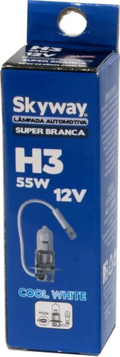 kit lampada super branca h3  55w 12v c/cert do inmetro