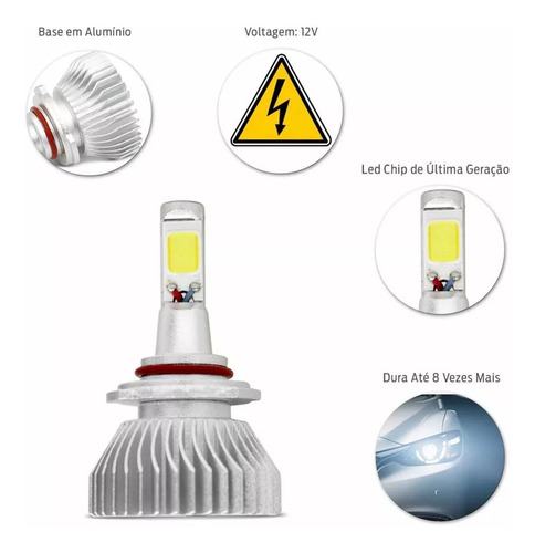 kit lampada super led 2d 6000k 12v 24v h1 h3 h4 h7 h8 h11