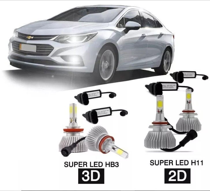Kit Lampada Super Led D D Novo Gm Cruze Ltz.